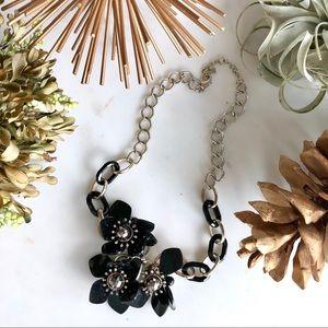 Banana Republic flower petal statement necklace